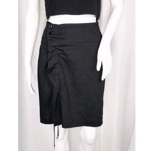 """Marithe Francois Girbaud Black 21"""" Pencil Skirt 27"""